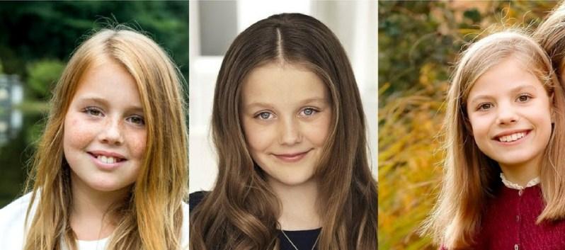 Prinzessin Alexia, Prinzessin Isabella und Prinzessin Sofia sind die Ersatzspielerinnen der Krone.     Fotos: RVD Jeroen van der Meyde,Kongehuset, Steen Evald, Casa Real