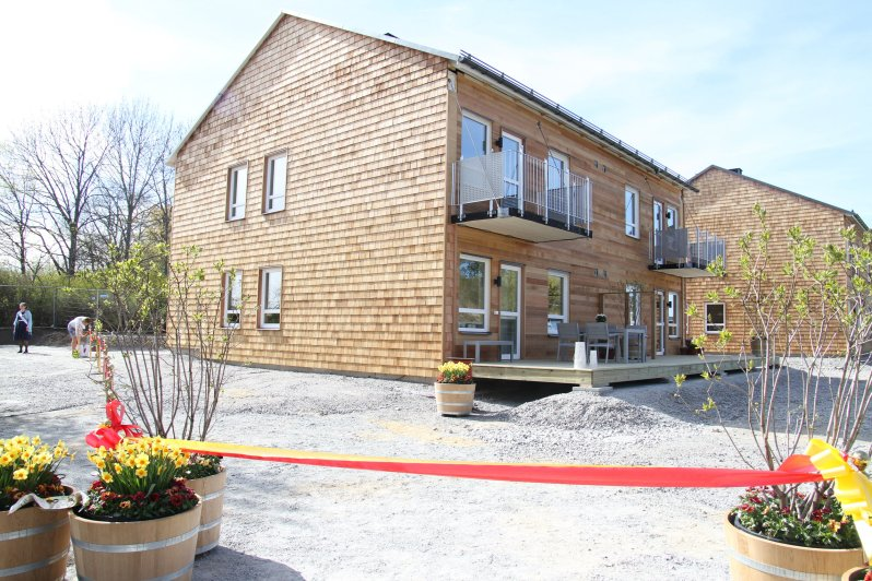 """Zu modern? Die Nachbarn finden die Gebäude der Stiftung """"Silviahemmet"""" passen nicht in die Umgebung.    Foto: Kunghuset"""