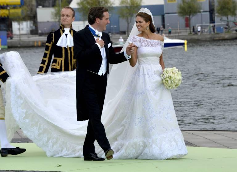 Niemand merkte, dass Madeleine Hochzeitsrobe erst kurz vor der Zeremonie fertig wurde.  ©Imago/Kamerapress