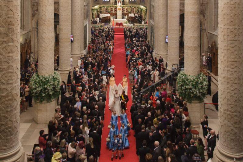 Auch viele Gäste aus dem europäischen Hochadel waren eingeladen, als das Paar in der Cathédrale Notre-Dame de Luxembourg heiratete.  © Vic Fischbach / Cour grand-ducale