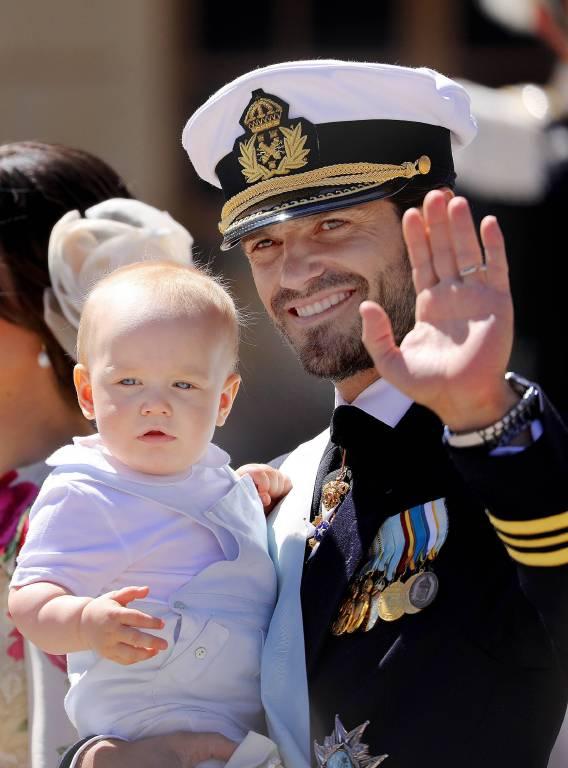 Ein entspanntes Baby: Prinz Gabriel lässt sich nicht so schnell aus der Ruhe bringen.  ©imago/PPE