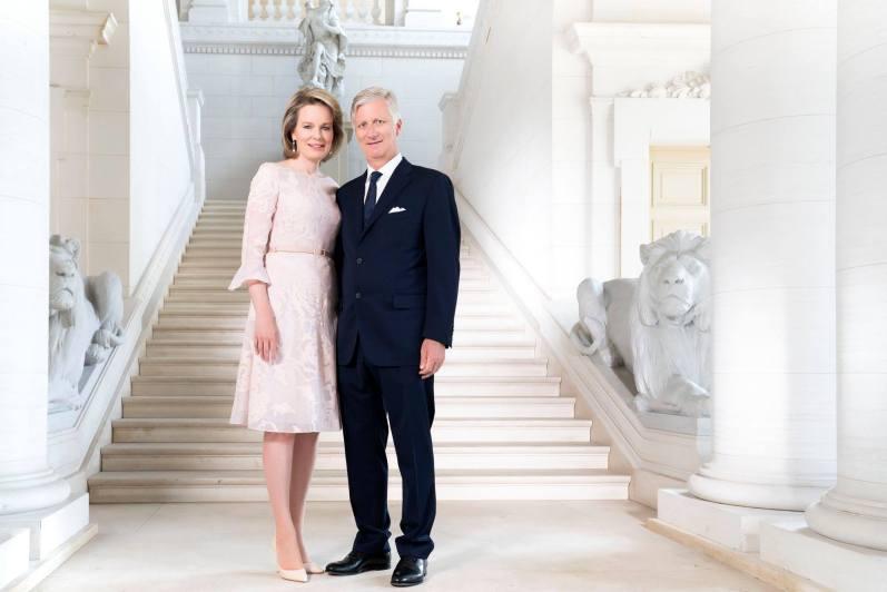 Königin Mathilde und König Philippe wirken immer etwas farblos. Sie zeigen keine Ecken und Kanten.  ©Koninklijk Paleis