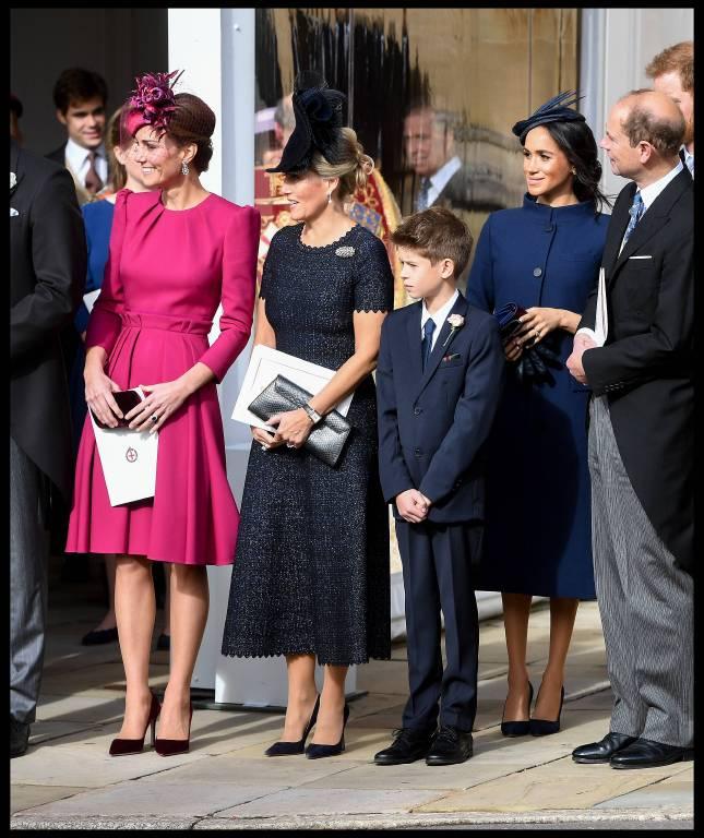 Herzogin Kate, Gräfin Sophie von Wessex und Herzogin Meghan kamen allesamt elegant und stilvoll zur Hochzeit.  ©imago