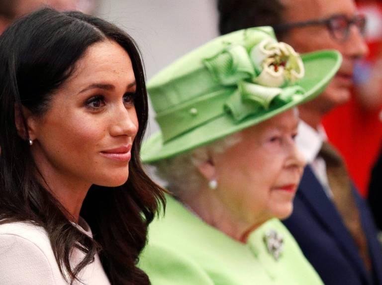 Was die Waage wohl anzeigt? Herzogin Meghan muss zur Gewichtskontrolle der Windsors.  ©imago
