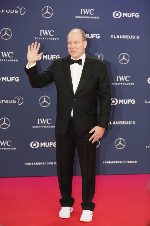 Fürst Albert besuchte die Laureus World Sports Awards in Monaco.  ©imago/Peter Seyfferth