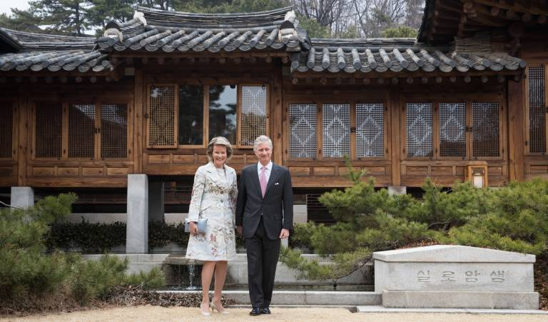 Königin Mathilde und König Philippe sind aktuell auf Staatsbesuch in Südkorea.  ©imago/Belga