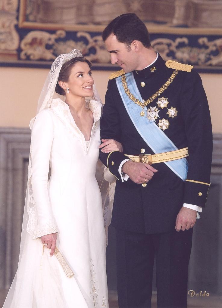 Am 22. Mai 2004 gaben sich Felipe und die Journalistin Letizia das Ja-Wort. Die gesamte Hochzeit soll mehr als 20 Millionen Euro gekostet haben.  © Casa de S.M. el Rey, Dalda
