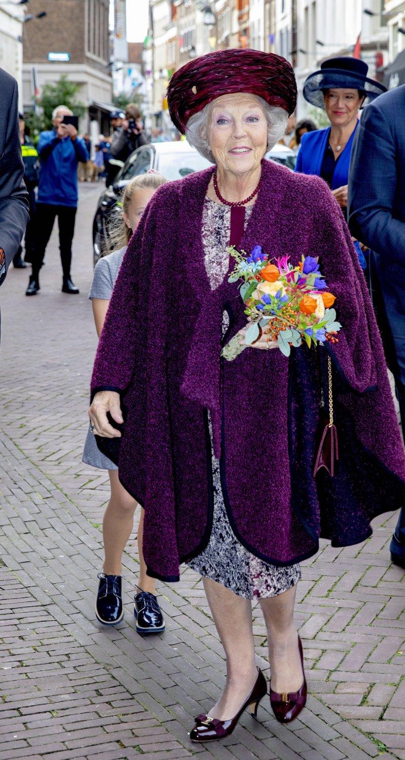 9. Oktober 2019   Prinzessin Beatrix enthüllte heute eine Statue von Willem van Oranje (*1533-†1584) …  © picture alliance/RoyalPress Europe
