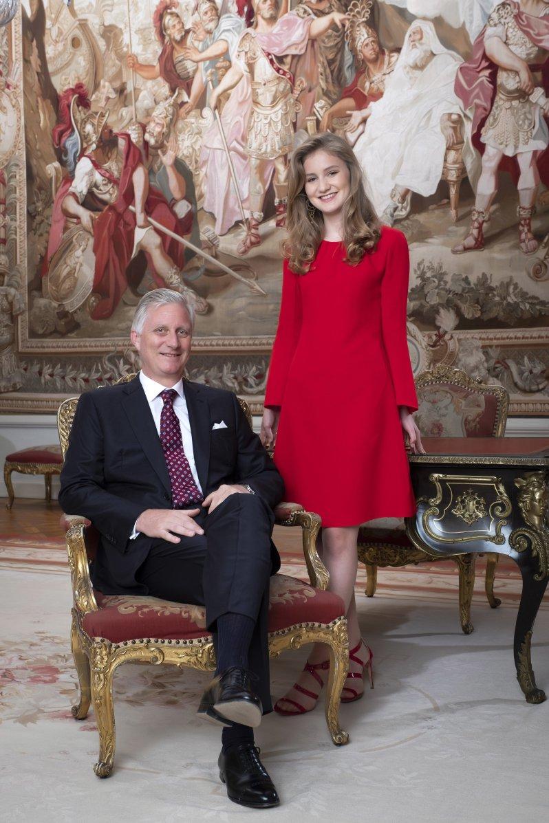 Prinzessin Elisabeth wird ihrem Vater eines Tages auf den Thron folgen. Der 59-jährige König Philippe bestieg 2013 den Thron.  © picture alliance/Hand Out Belgian Royal Palace - /BELGA/dpa