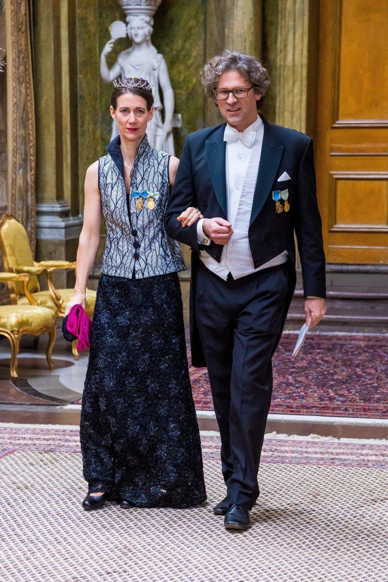Bettina Bernadotte war bereits beim Nobelpreis-Bankett am Vorabend dabei. Auch beim Königsdinner war die Großcousine von König Carl Gustaf unter den Gästen.  © picture alliance/TT NEWS AGENCY