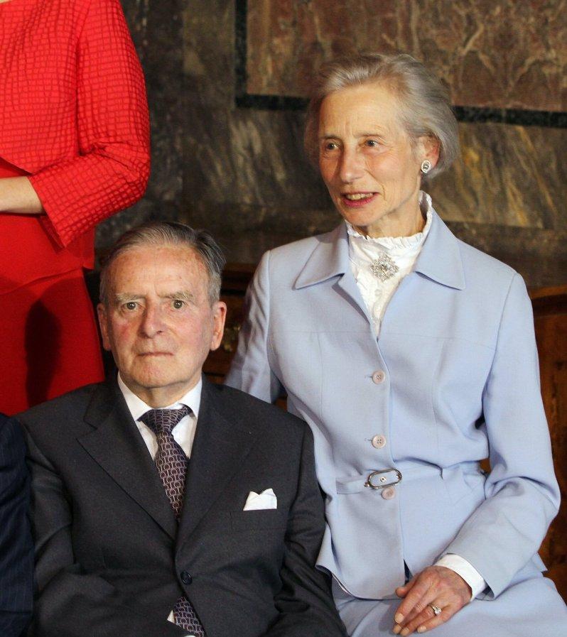 Die Eltern von Erbgroßherzogin Stéphanie von Luxemburg: Graf Philippe de Lannoy und Alix de Lannoy sind inzwischen beide verstorben.  © dpa