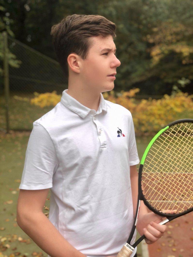 Auf den Fotos zu seinem 14. Geburtstag zeigt Prinz Christian seine Leidenschaft für den Tennis-Sport. © Kronprinzessin Mary, Kongehus