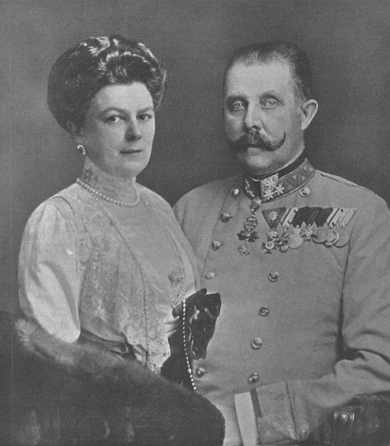 Der Mordanschlag auf Ferdinand von Österreich-Este und seiner Frau Sophie war einer der Auslöser des Ersten Weltkriegs. © Gemeinfrei