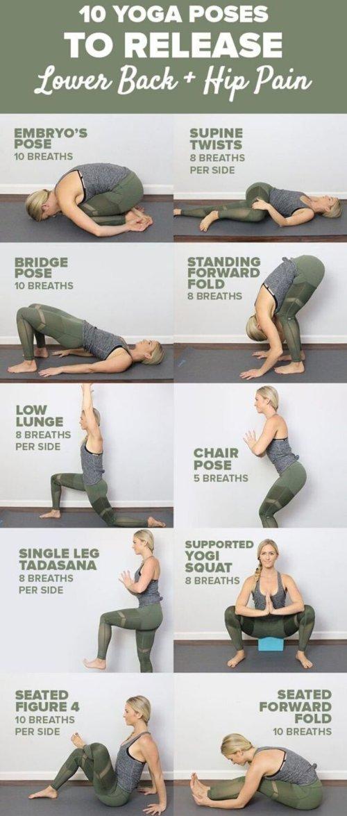 10 postures de yoga pour relâcher le bas du dos et