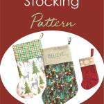 Lined Christmas Stocking Sewing Pattern With Bonus Mini Stocking Pdf Download Crafty Staci