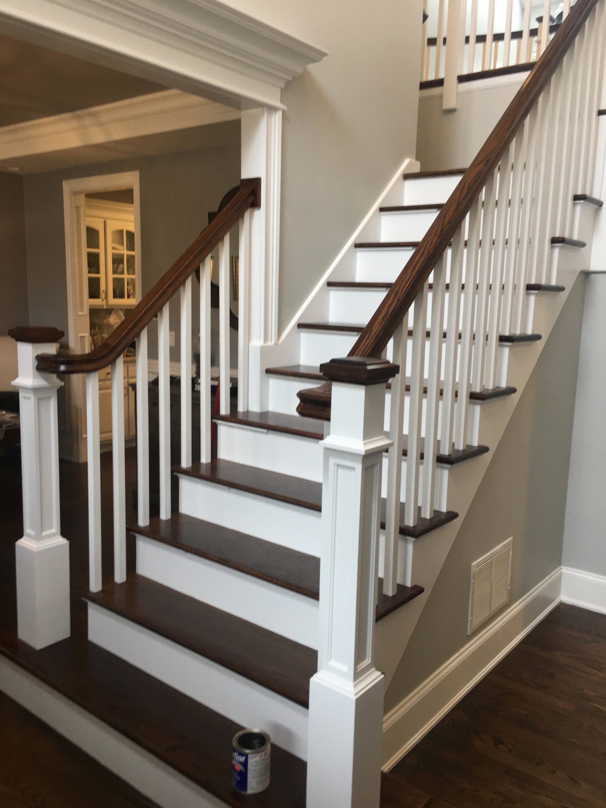 Foyer Staircase Remodeling Contractor Replace Stairs New