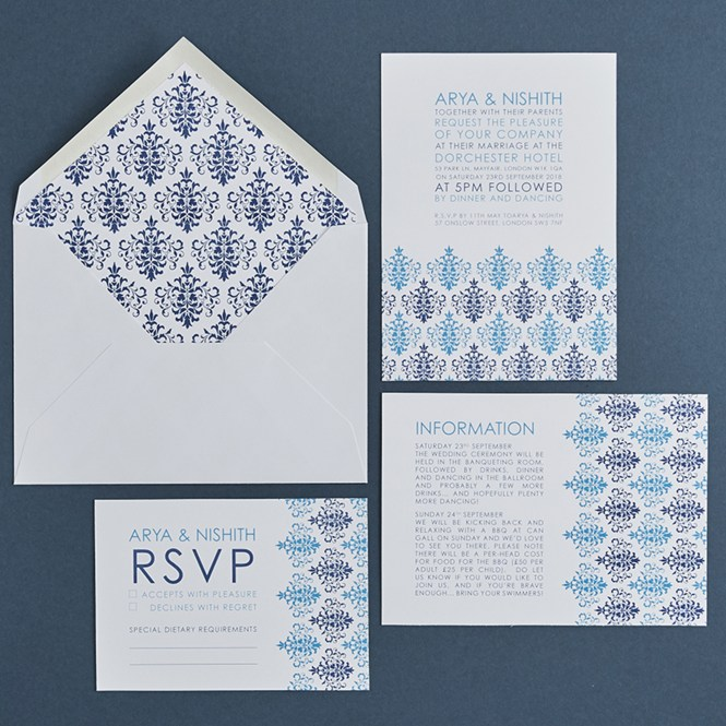 Harmsworth Fine Stationerywedding Invitation Sets With Envelopes