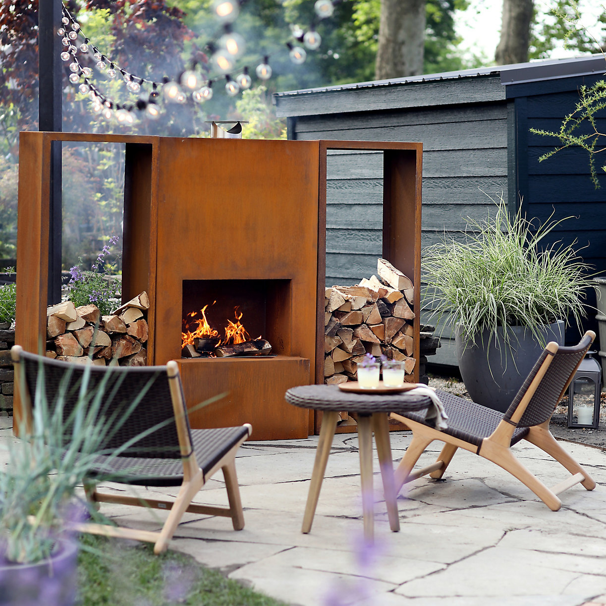 ask joshua a unique outdoor fireplace