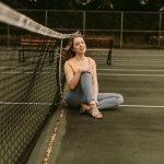 Retro Tennis Court Fashion Shoot Emily Wisconsin Based Wedding And Elopement Photography Purely Brooke Photography
