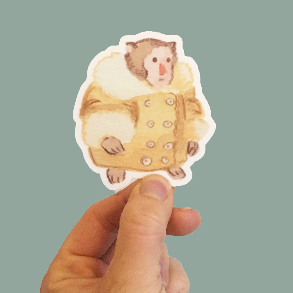 ikea monkey sticker natalie czer illustration