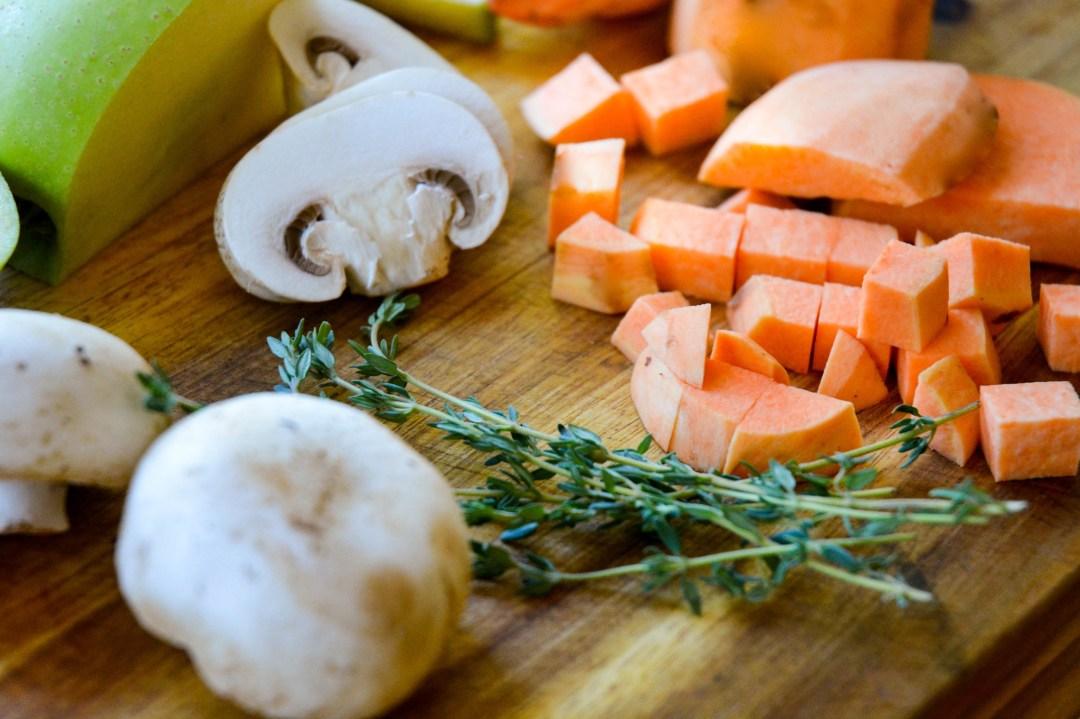 mushroom hash veggies