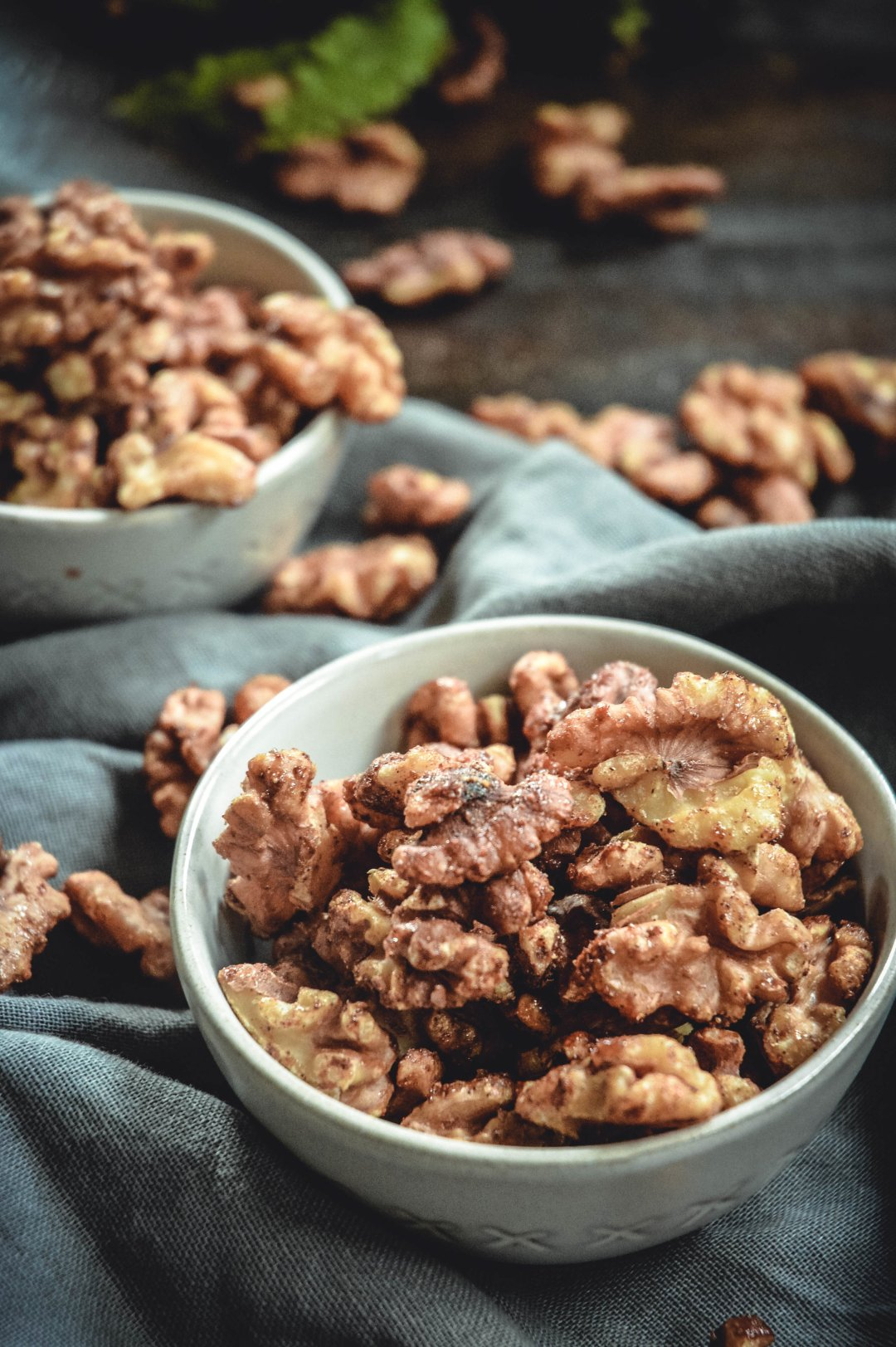 maple cardamom candied walnuts