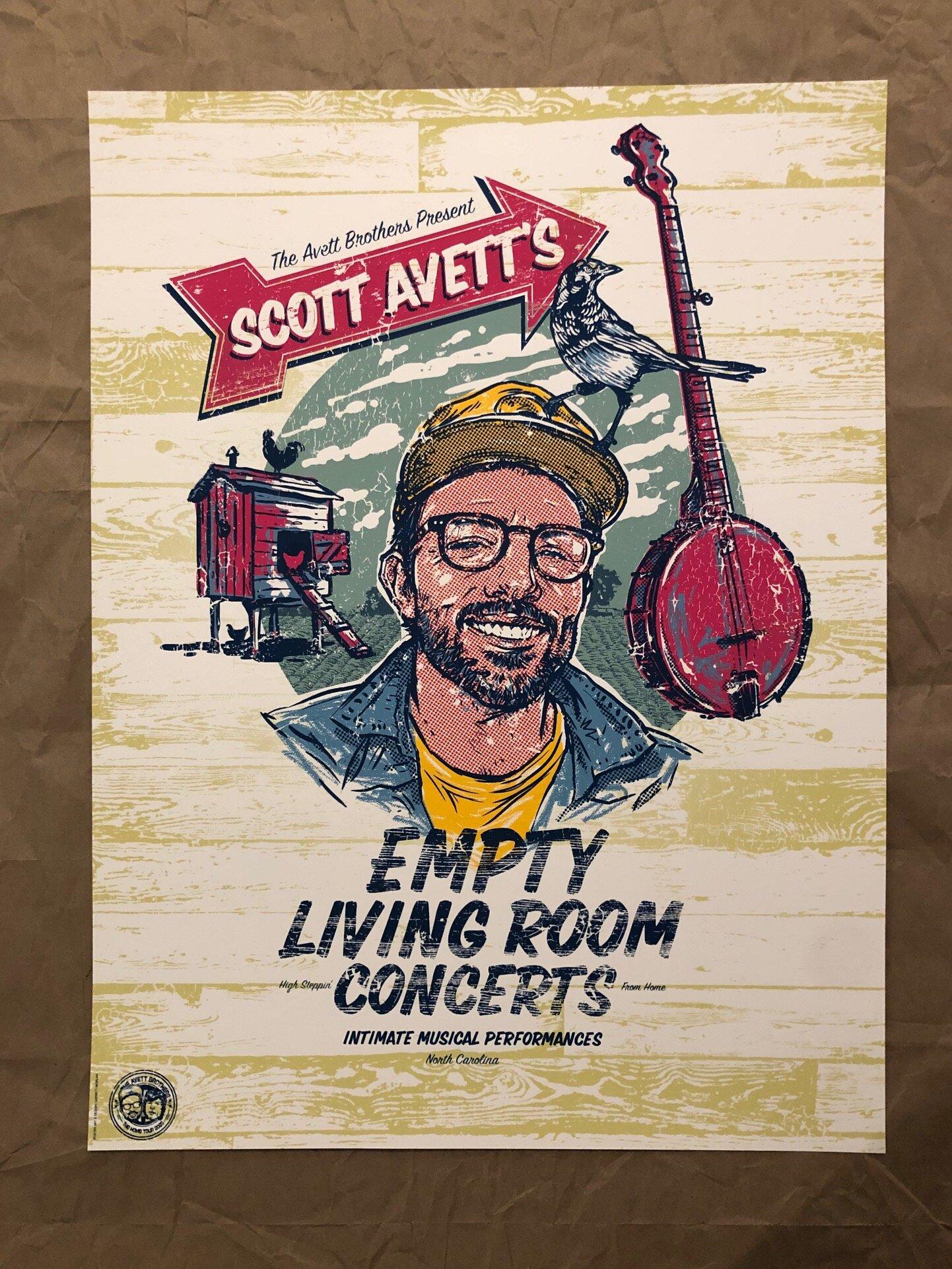 scott avett s empty living room concerts poster artist proof edition garrett morlan