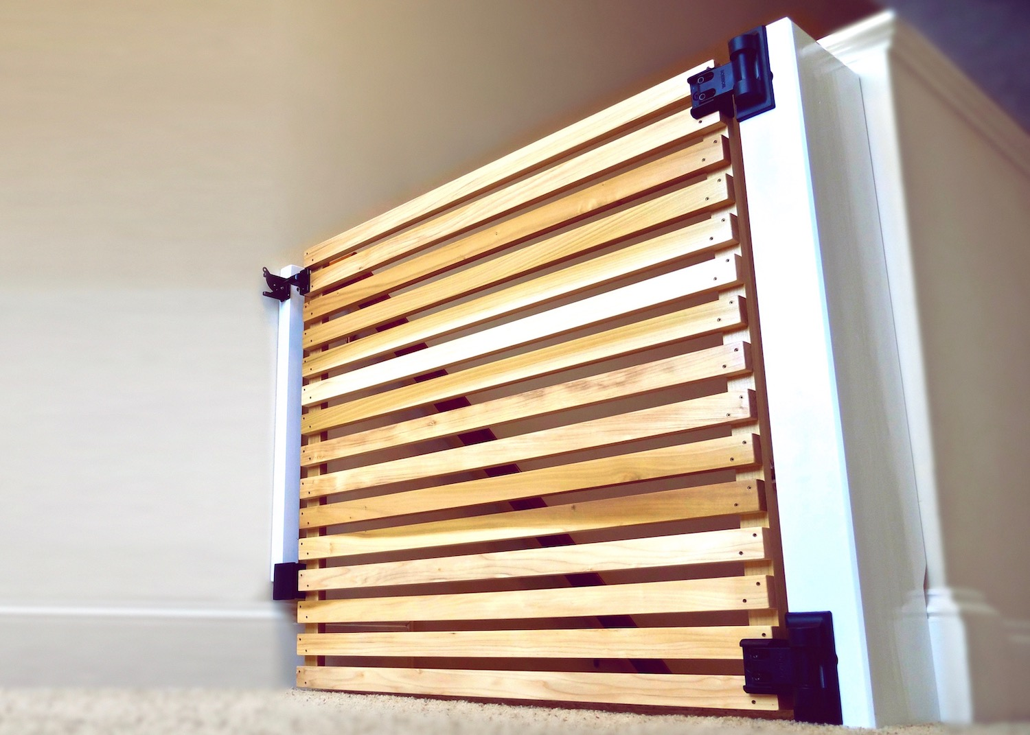 How To Build An Easy Diy Modern Baby Gate Or Pet Gate Crafted Workshop