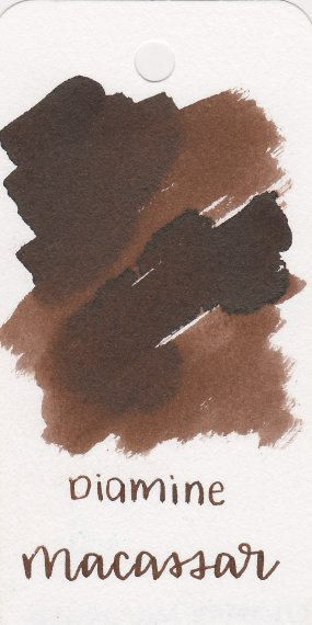 Best brown fountain pen inks - Diamine Macassar