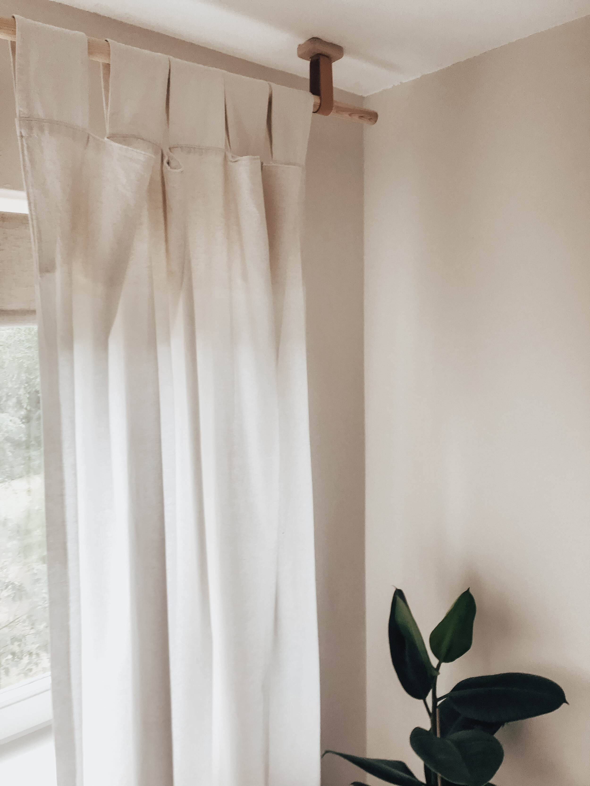 diy wooden curtain rods pole with