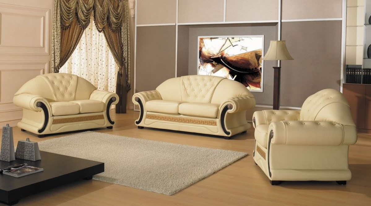 Traditional Italian Leather Set Decodesign Furniture Furniture Store Miami Fl Wholesale Prices