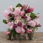 Pink Ranunculus Tulips And Hyacinth Bouquet The Secret Garden Florist Beaconsfield