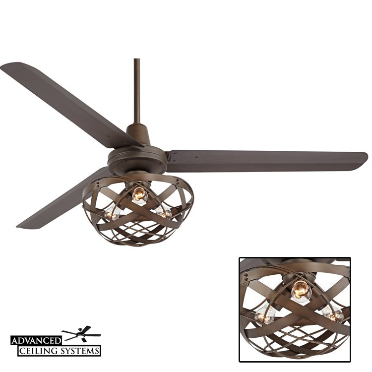 7 rustic industrial ceiling fans with