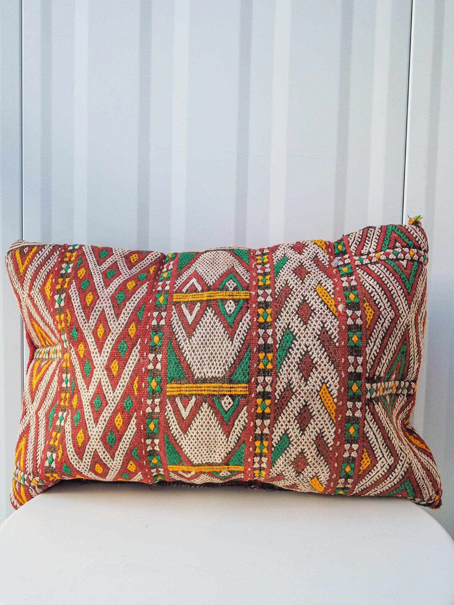 vintage moroccan kilim pillow no 9 aventyr