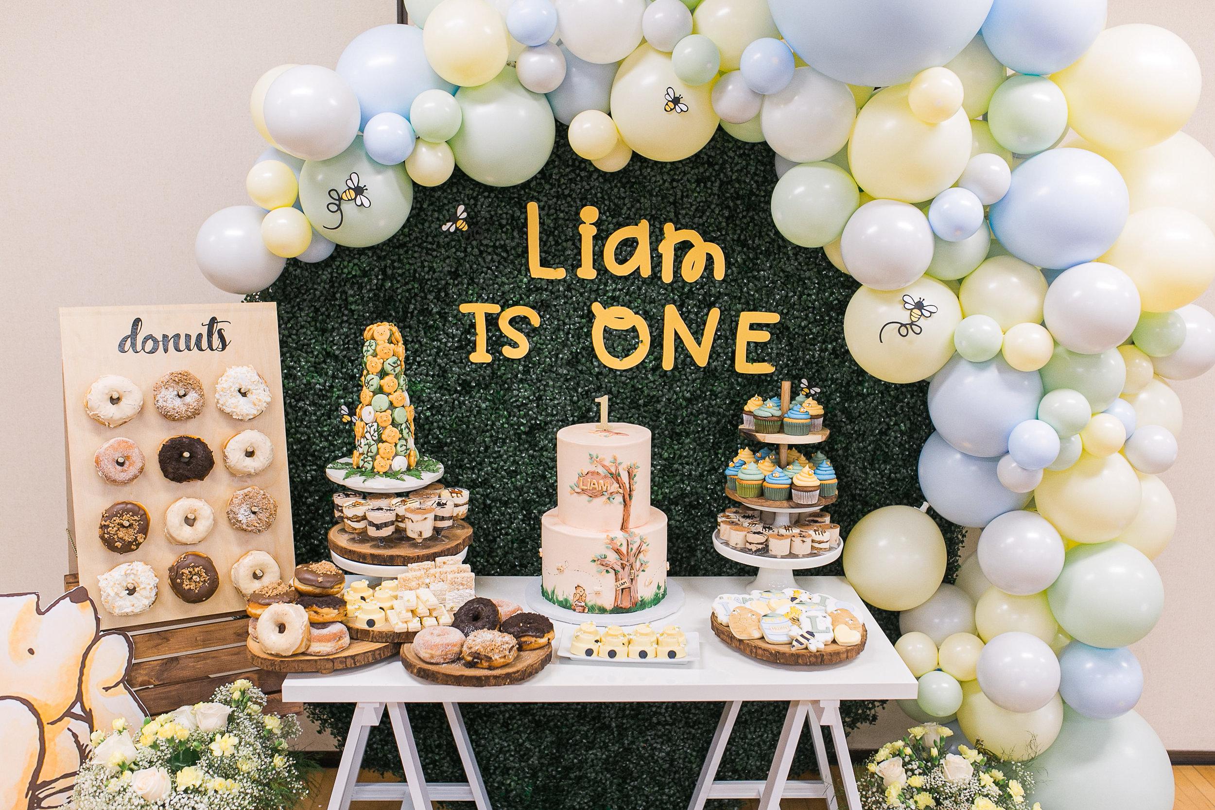 Liam S First Birthday Party Winnie The Pooh Theme H A N A N