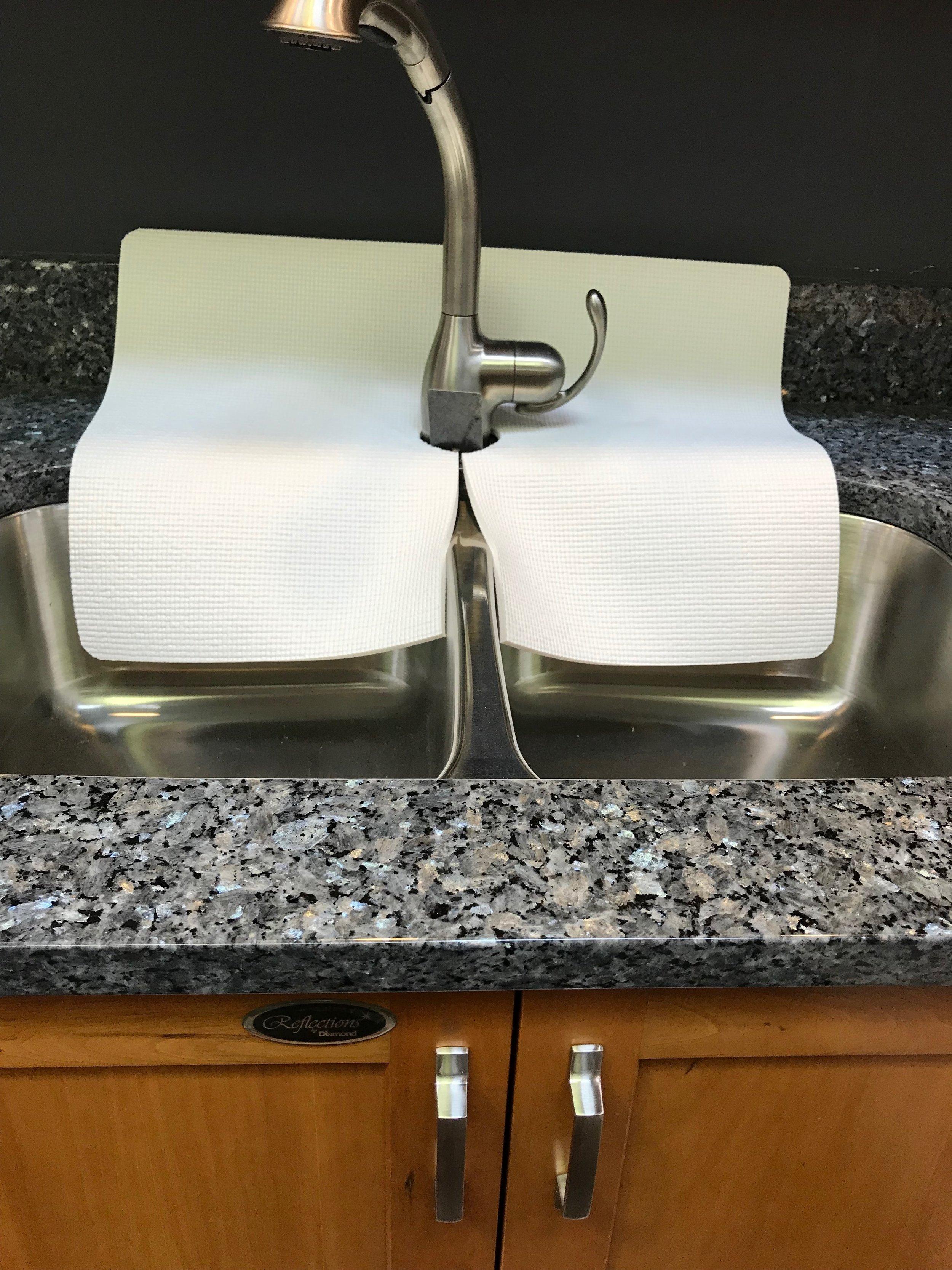 double sink faucet splash guards