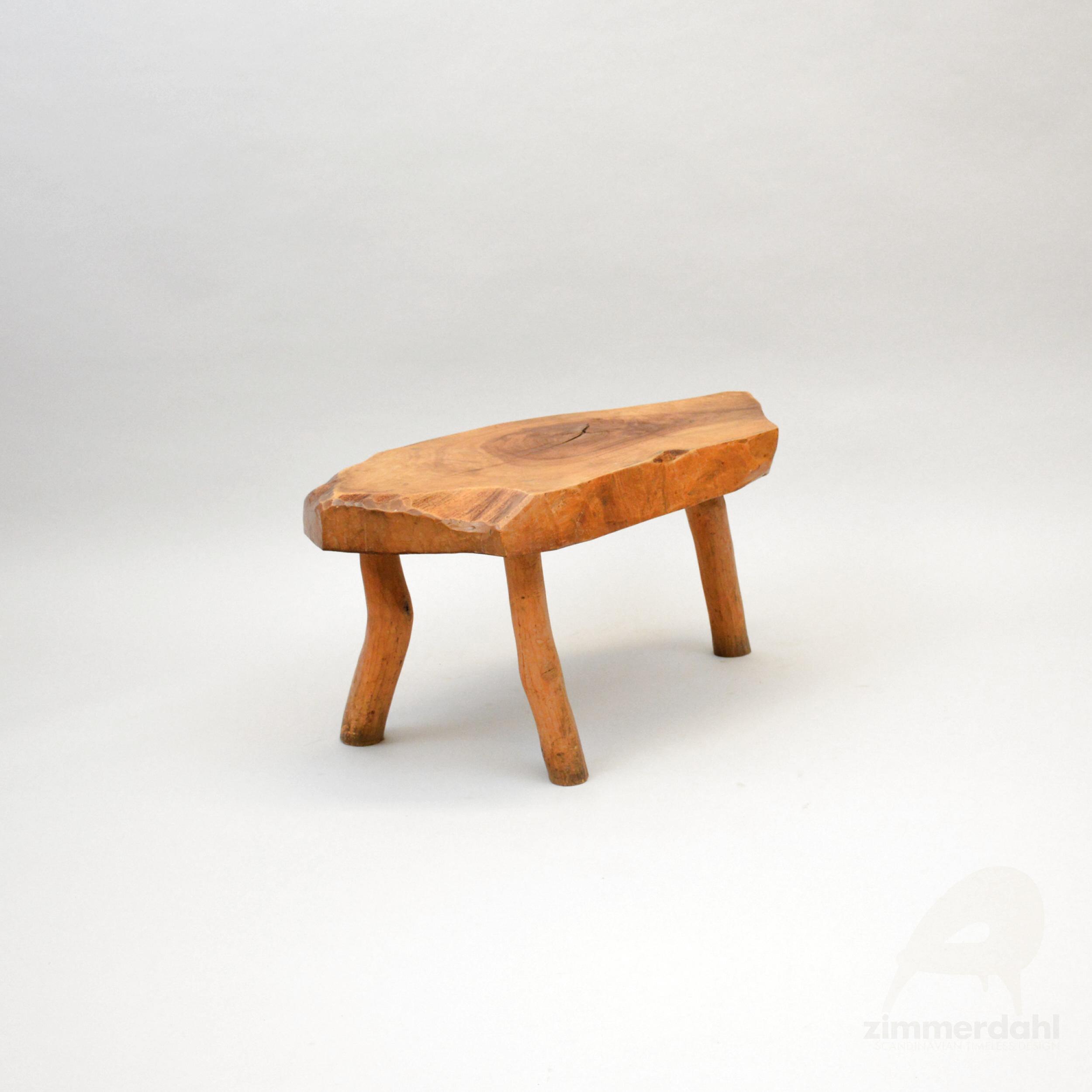 rustic massive wooden table three legged france scandinavian timeless design zimmerdahl antiques design ab