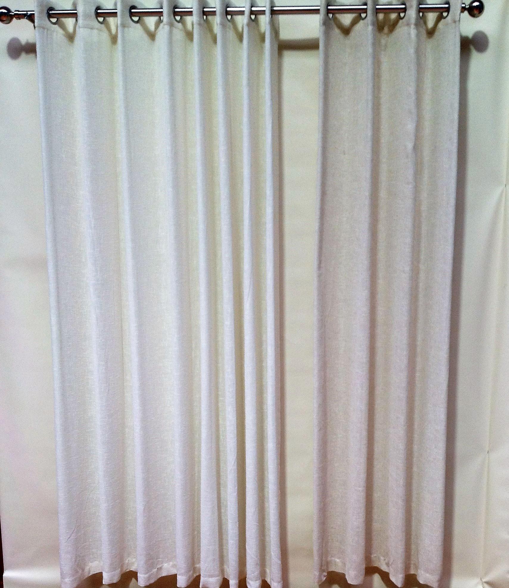 sheer eyelet curtain linen look 220cm drop