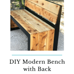 Diy Modern Bench With Back The Awesome Orange