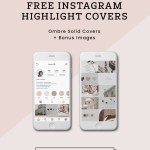 Blush Pink Ombre Solid Color Instagram Highlight Covers Social Media Marketing Resources Kaespo Design