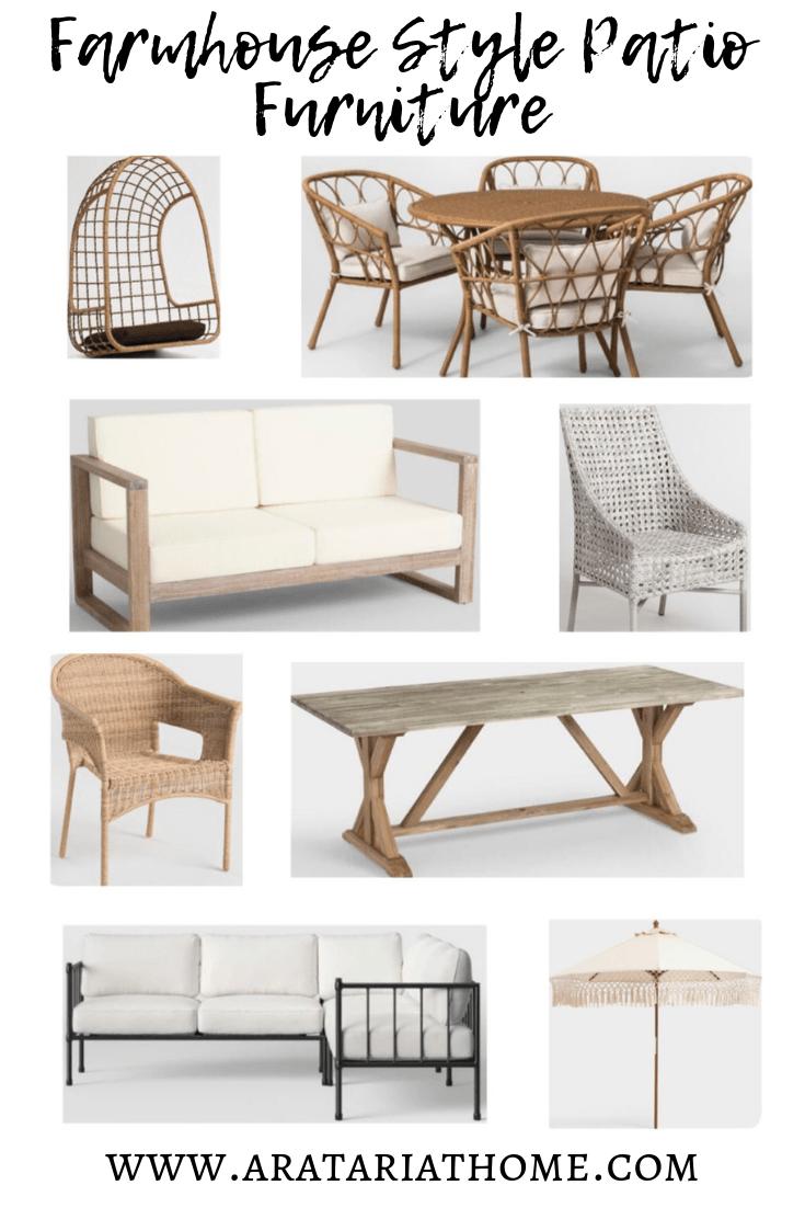 farmhouse patio furniture aratari at