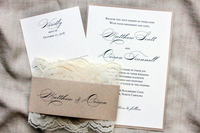 Elegant Wedding Invitations Country