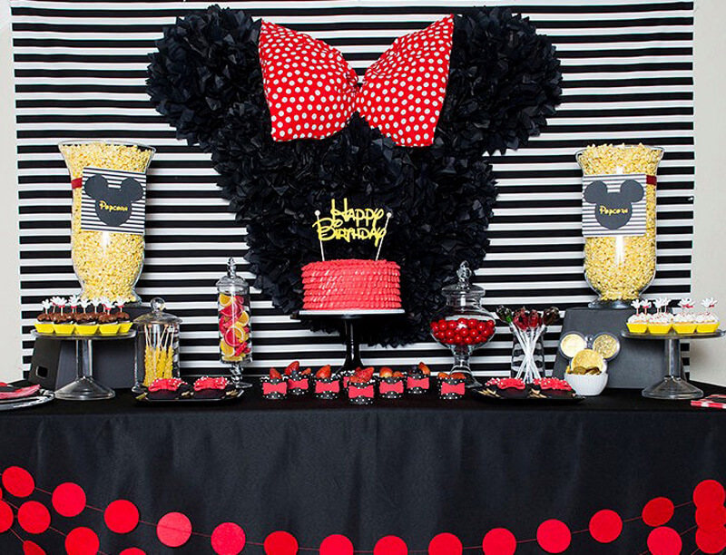 Minnie And Mickey Birthday Party Mint Event Design