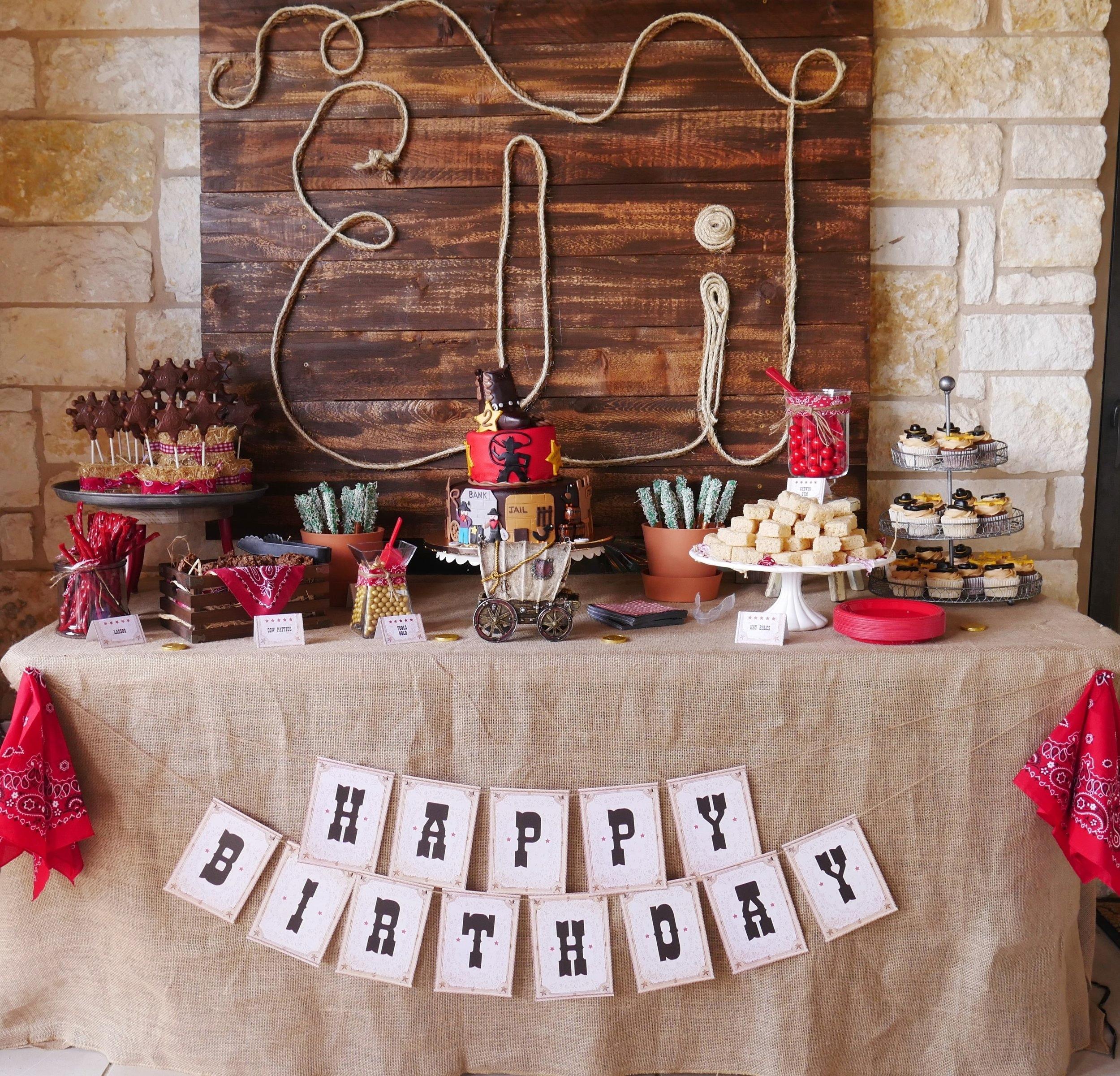 Eli S Wild West Birthday Party Mint Event Design