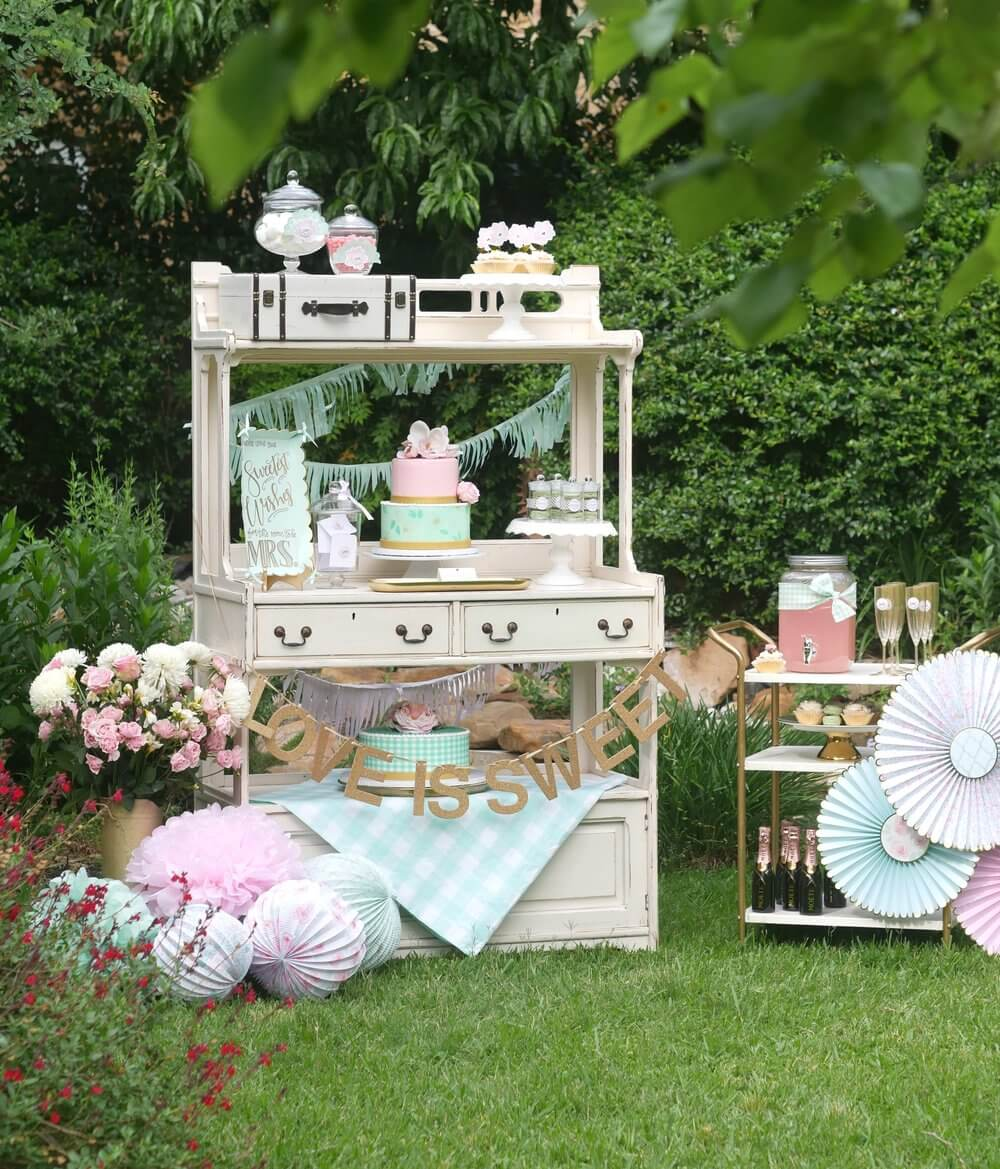 French Cottage Bridal Shower Mint Event Design