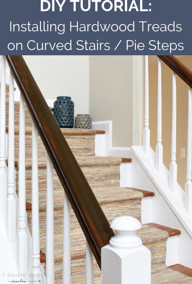 Diy Hardwood Staircase Makeover Replacing Carpet With Wood Treads | Installing Oak Stair Treads | Carpet | Anti Slip Stair | Wood Flooring | Laminate Flooring | Risers