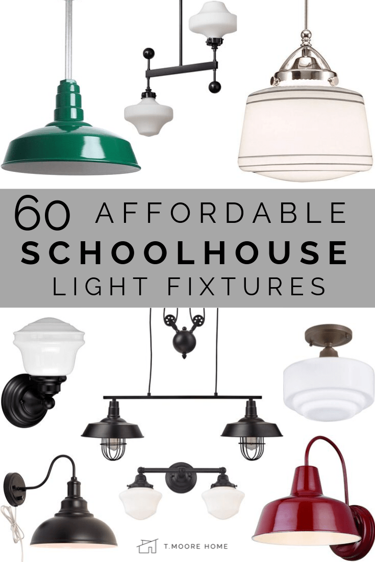 affordable schoolhouse lighting round