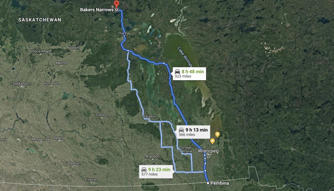 The trip to Lake Athapapuskow in Northern Manitoba.