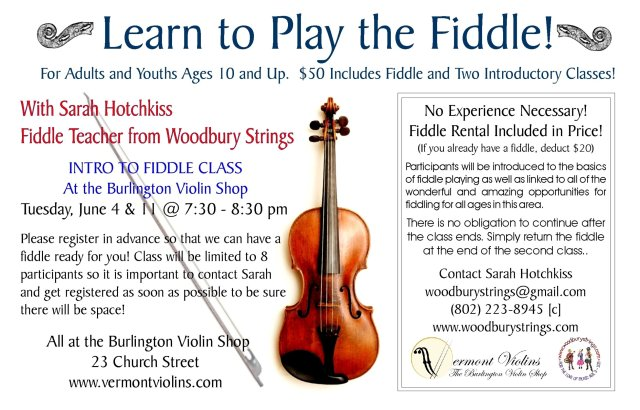Learn to Play the Fiddle — Vermont Violins