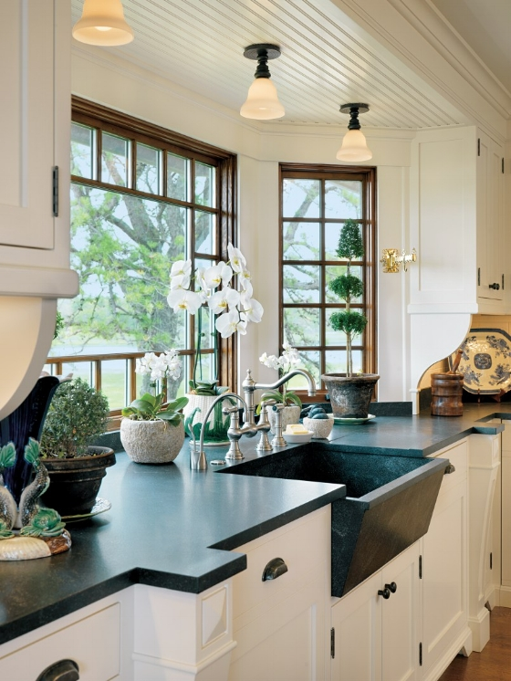 large kitchen window design ideas